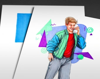 Saved by the Bell | Zack Morris | 90s TV Shows Iconicharacter Art Print
