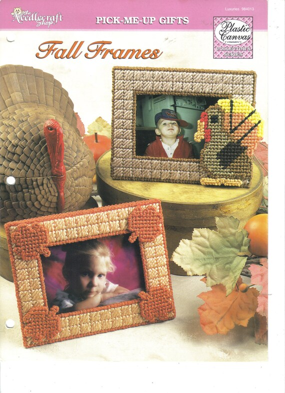 Fall Frames ~ plastic canvas pattern ~ The Needlecraft Shop pattern ...