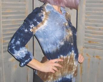 Tie Dye, Linen Shirt, Button Down, Boho Chic, Festival Wear