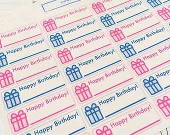28 Birthday Reminder Planner Stickers- perfect to keep track of birthdays in your Erin Condren planner or wall calendar