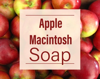Apple Macintosh Soap - Two Bars - Homemade Soap
