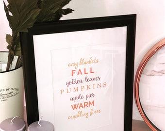 All Things Autumn Print A4