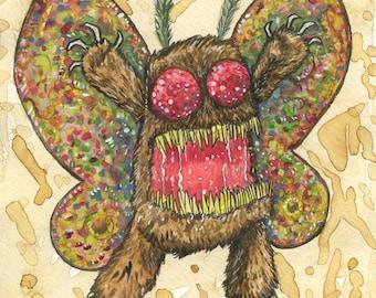 Mothy the Mothman Original Watercolor