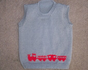 Fairisle Hand Knitted Childs Tank Top