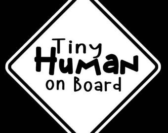 Tiny Human Car decal