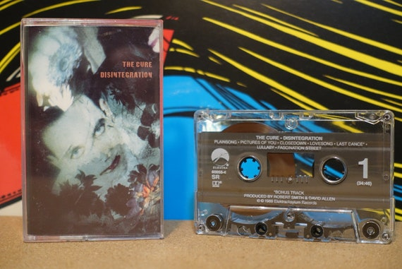 Disintegration by The Cure Vintage Cassette Tape
