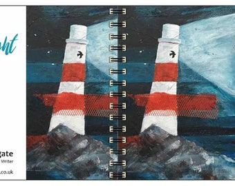 OceanFlight spiral-bound square notebook - plain inside