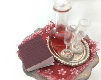 Dolls House Miniatures - Side Table with Decanter