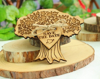 Unique Save the Date Magnets, Wedding Tree Save the date, Wood Wedding Save the date, Wedding Save the date, Wood Save the date