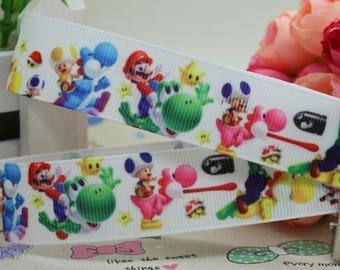 """Video Game Grosgrain 7/8"""" Printed Ribbon"""