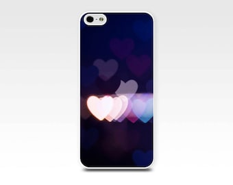 iphone 5s case hearts iphone case 6 iphone 4s case iphone 4 case abstract bokeh iphone case photography purple lights fine art iphone 5 case