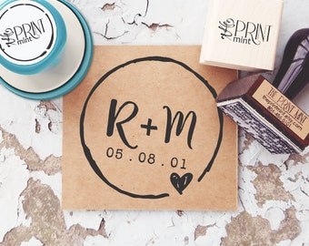 Rustic Wedding Stamp- Custom Wedding Stamp,  Save the Date Stamp, Rustic Wedding Favor Stamp, Date Stamp, Wedding Rubber Stamp  10088