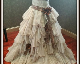 Steampunk Wedding Dress Custom Made Rustic Bridal Gown with Optional Sprockets and Gears