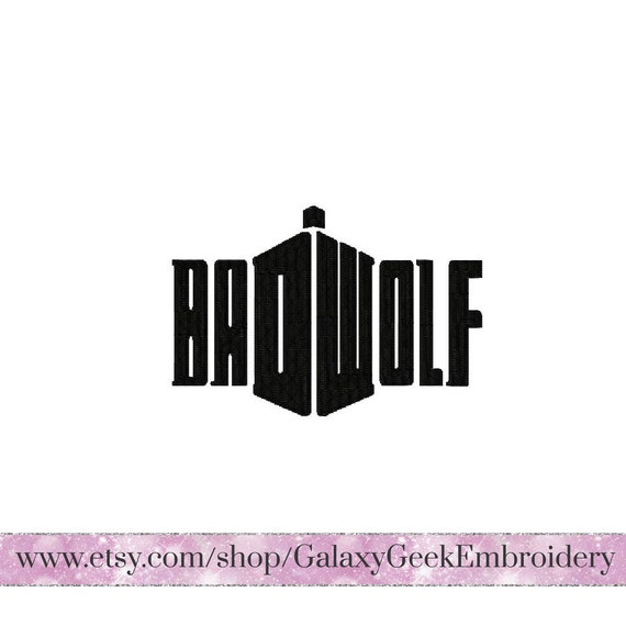 Doctor Who Embroidery Design Dr Who Embroidery Bad Wolf Tardis