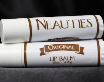 Natural Lip Balm // Original (Flavorless) // The World's Most Loved Lip Balm! // Neauties Premium Lip Products