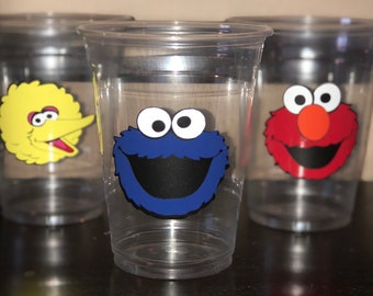 Sesame street party supplies/party favors/birthday party/1st birthday/elmo/cookie monster party/decoration/decor/theme/cups/ baby shower