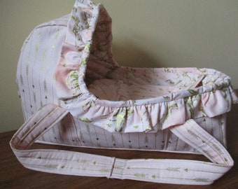 Doll Bed Moses Basket Doll Carrier Bassinet For Bitty Baby