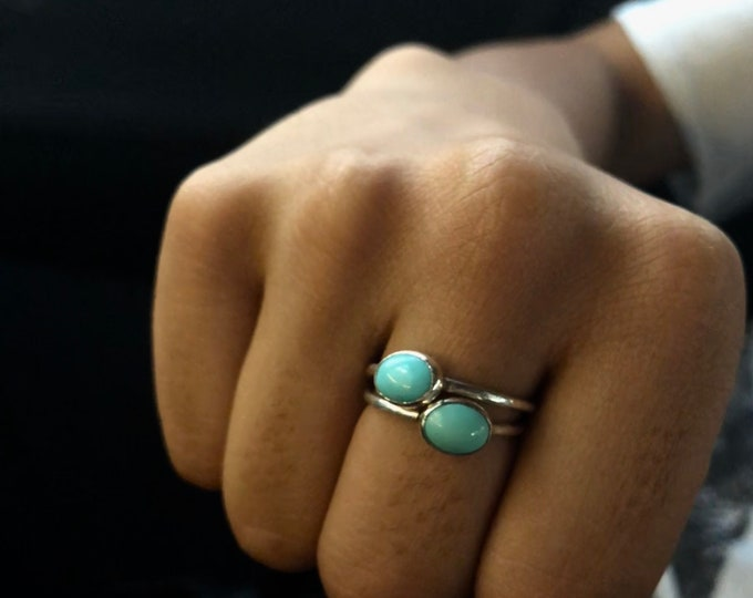 Sterling Silver Ring with Mexican Turquoise
