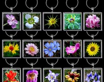Wildflower Wine Charm - Wildflower Wine Glass Charm - Flower Wine Charm - Flower Wine Glass Charm - Wine Glass Hoop Handmade Set (WFW1)