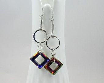 Swarovski Cosmic ring crystal Volcano earrings