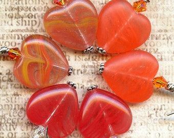 Harvest Hearts  Sterling Silver Earrings