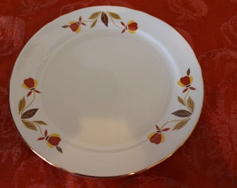 Hall China Jewel Tea Autumn Leaf Bread & Butter Plates