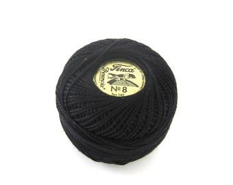 Black Finca Perle Cotton Thread