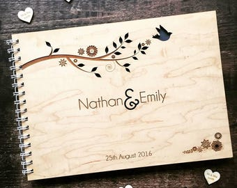 Woodland Branches Wedding Guestbook