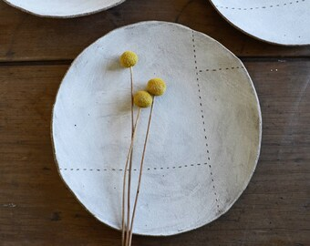 Large Serving Plate - Pottery Plate - Rustic Plate - Stoneware Plate - Large Plate - Ceramic Plate