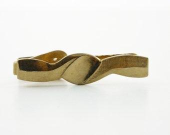 Gold Vertigo Tie Clip