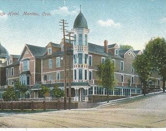 Navajo Hotel  Manitou Colorado Postcard
