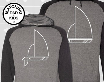 Matching Dad and Me Shirts, Sailboat, Father Son Matching Shirts, Men's Hoodie, Boys Hoodie, Girls Hoodie, Dad Gift, Boating, Nautical