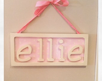 Personalized Name Frame. kids. gifts. plaque. wall hanging