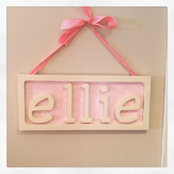 Personalized Name Frame. Baby. Gift. plaque. wall hanging