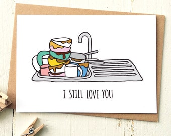 I Still Love You Card - Funny Valentine Card - Valentines Day Card - Funny Love Card - Boyfriend Card - Husband Card - Funny Birthday Card