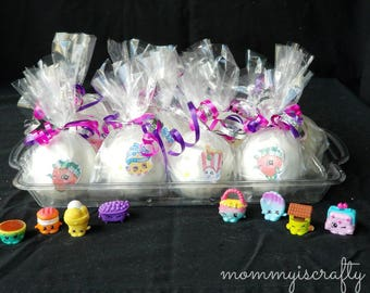 Party Pack | Shopkins Surprise Kid's Bath Bombs | Sets of 12 | Party Favors | Bulk Bath Bombs | Bath time | Toys | Kids | MommyIsCrafty