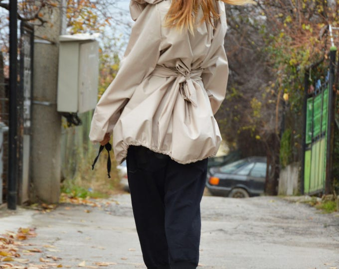 Extravagant Ivory Shirt, Asymmetrical Coat, Plus Size Sleeves Jacket, Plus Size Shirt, Fashion Coat by SSDfashion