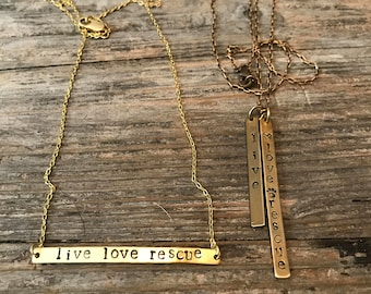 Live love rescue necklace