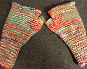 Fingerless Gloves, Stripes, Handwarmers