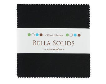 Charm Pack-5 inch squares-Moda-Black Solid