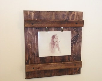 Wood Picture Frame, Rustic Wall Decor, Rustic Picture Frame, Wooden Photo Frame, Rustic Decor, Home Decor 5x7, 4x6 Picture Frame
