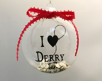 Stephen King IT Derry  Glass Ornament