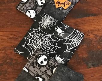 Halloween set of 4 reversible fabric mug rugs