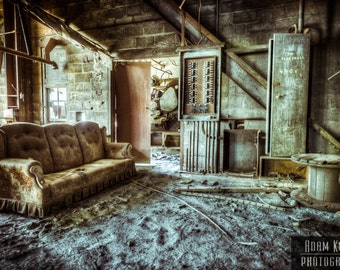 "Abandoned Factory ""Break Room""- Urbex, Urban Decay Photography"
