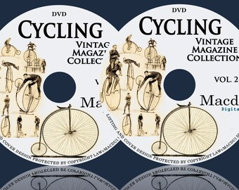 Cycling Vintage Magazine Collection 104 PDF E-Books on 2 DVD Bicycle,Tricycle, American Wheelmen, The Bicycling world
