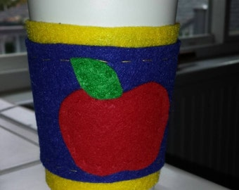 Snow White inspired travel cup cozy and travel mug