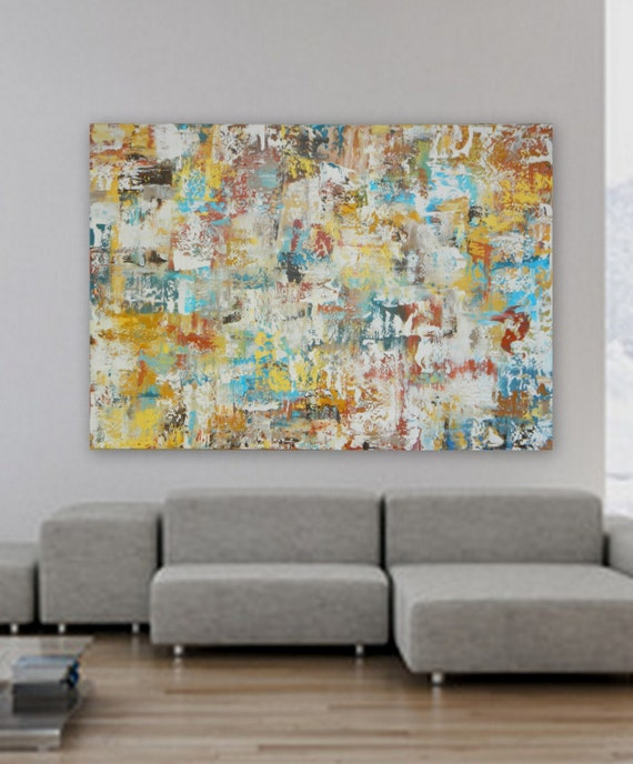 Modern abstract painting original acrylic on canvas contemporary art design acrylic painting XL wall art large painting