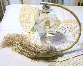 Vintage Imperlux Perfume - Atomizer Bottle - Handcut Lead Crystal - Made in GDR