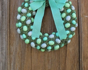 Easter Wreath, Spring Wreath, Easter Egg Wreath, Egg Wreath, Bird's Egg Wreath, Moss Wreath, Spring Decor, Easter Decor, Natural Wreath
