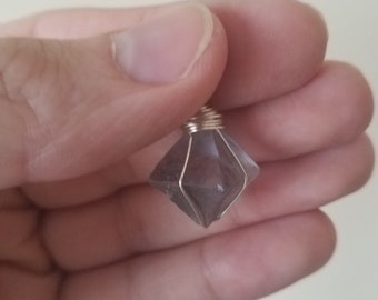 Fluorite necklace pendant